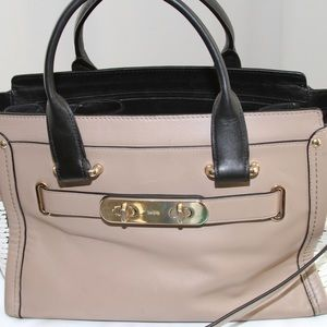BROWN SWAGGER IN COLORBLOCK EXOTIC EMBOSSED ENDS